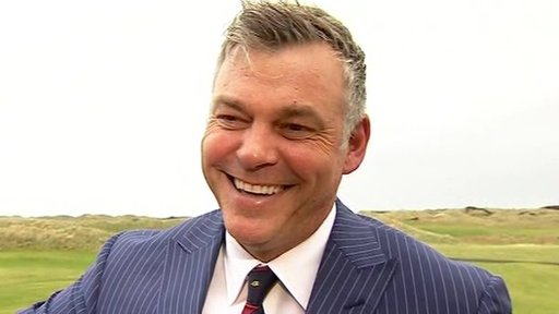 Darren Clarke at Royal Portrush