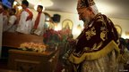 Coptic Christians celebrate Christmas in Brooklyn, New York, 6 January