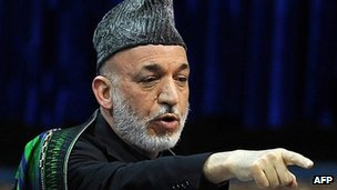 File picture of Afghan President Hamid Karzai