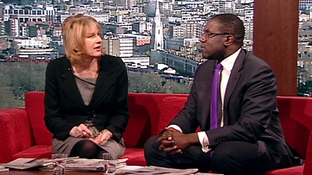 Ann Treneman and David Lammy
