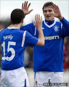 David Healy and Nikica Jelavic