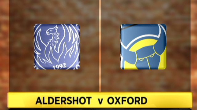 Highlights: Aldershot 0 - 3 Oxford Utd