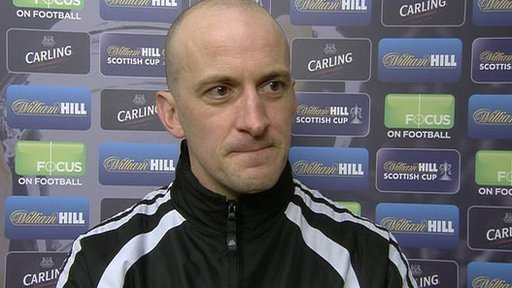 Arbroath player-manager Paul Sheerin