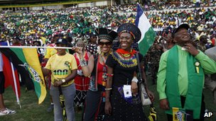 ANC supporters at rally in Bloemfontein
