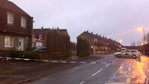 Shooting scene in Carluke - pic by David Lees