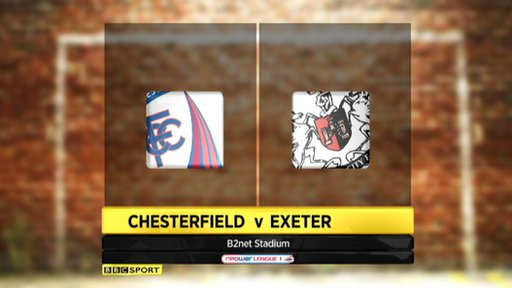 Chesterfield 0-2 Exeter