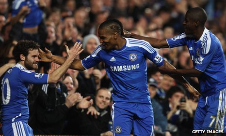 Juan Mata, Florent Malouda and Ramires