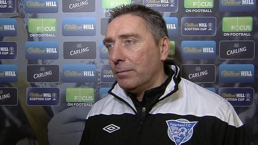 Peterhead manager Jim McInally