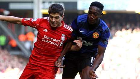 Steven Gerrard and Danny Welbeck