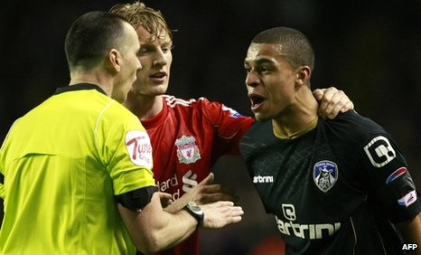Oldham defender Tom Adeyemi