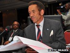 President Ian Khama of Botswana