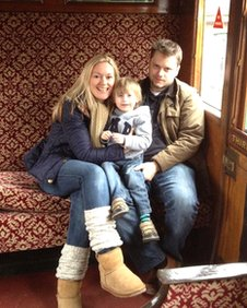 Rachel and Ben Kingham with their son, Arthur.