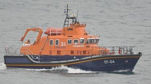 The Spirit of Guernsey, the RNLI's St Peter Port lifeboat