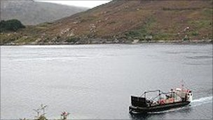 Glenelg ferry. Pic: Undiscovered Scotland