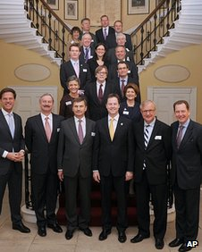 Nick Clegg with the leaders of other Liberal parties in Europe