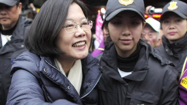 Presidential candidate Tsai Ing-wen from the Democratic Progressive Party