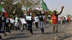 Demonstrators in Abuja