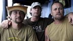 The three activists aboard the Steve Irwin, picture from Sea Shepherd released 8 January, 2012