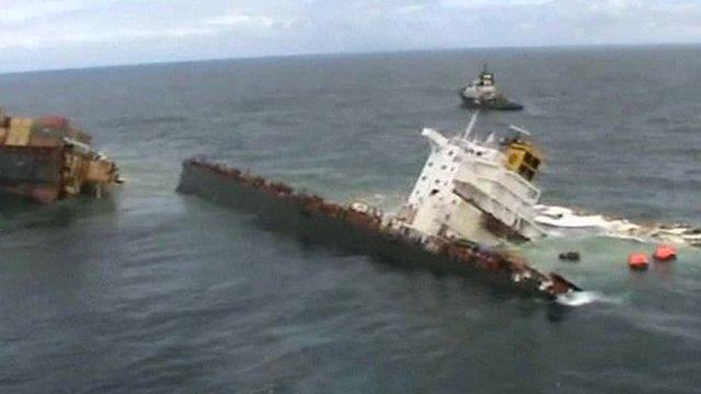 The sunken Rena