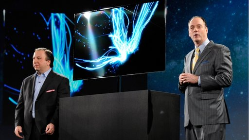 OLED TV being shown at Consumer Electronics Show