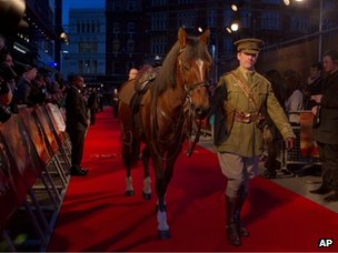 Equine star of War Horse on the red carpet