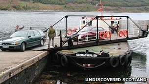 Glenachulish ferry. Pic: Undiscovered Scotland