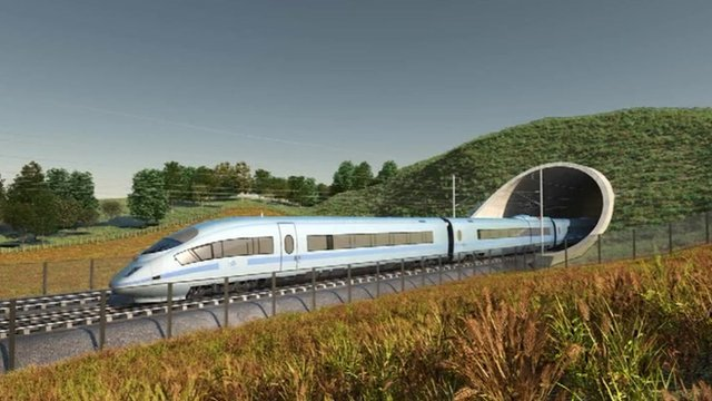 Computer generated image of the HS2