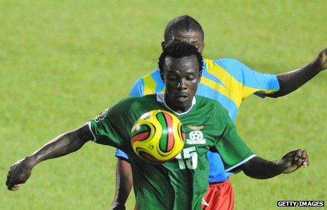 Given Singuluma in action for Zambia
