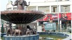 Elephants at a fountain in Lucknow