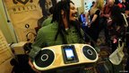 Rohan Marley with the Bag of Rhythm