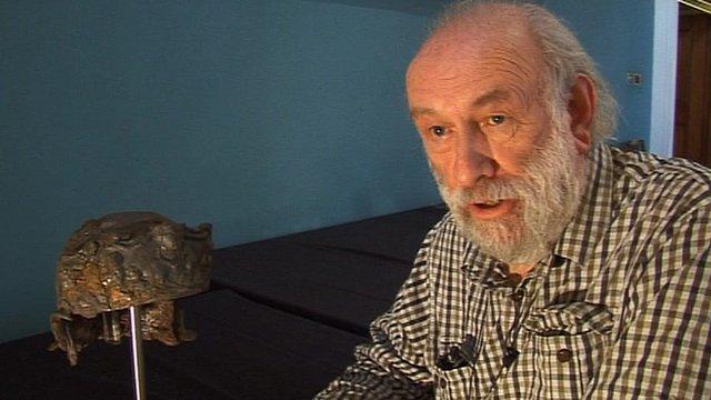Volunteer archaeologist Ken Wallace