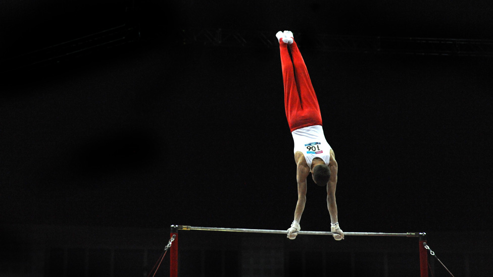Vasili Mikhalitsyn Belarus Performs On The Horizontal Bar