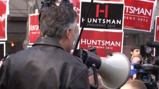 Jon Huntsman at rally