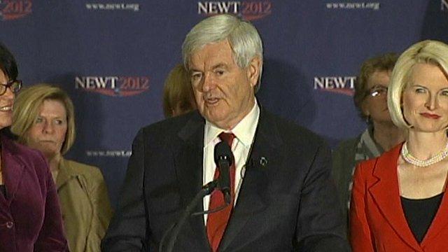 Former House of Representatives speaker Newt Gingrich