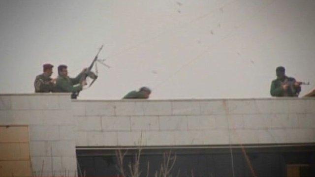 Gunmen in Kurdistan.