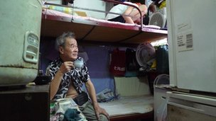 Many poor Hong Kongers live in sub-standard housing such as Tam Kin Wai.