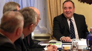 Alex Salmond and his Cabinet