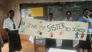 Kenyan pupils campaign for girls' education