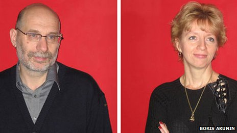 Boris Akunin and his wife Erika (image from Akunin's blog)