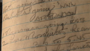 Richard Anderton's notebook entry