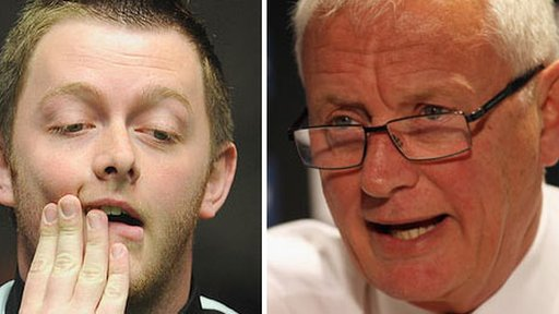 Northern Ireland's Mark Allen and snooker boss Barry Hearn