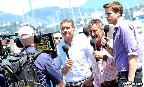 David Coulthard, Eddie Jordan and Jake Humphrey