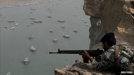Iranian forces on exercise near the Strait of Hormuz. 30 Dec 2012