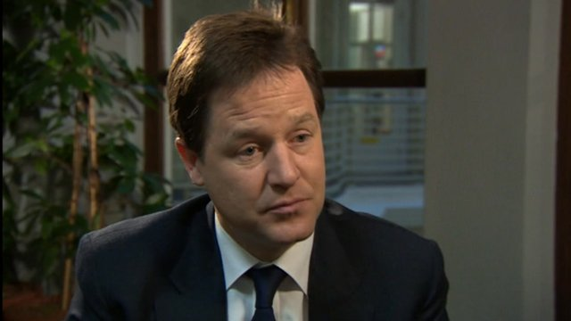 The Deputy Prime Minister, Nick Clegg