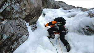 Ice climber. Pic: Chris Sleight