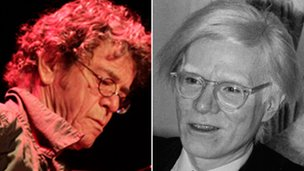 Lou Reed (left) of The Velvet Underground and Andy Warhol