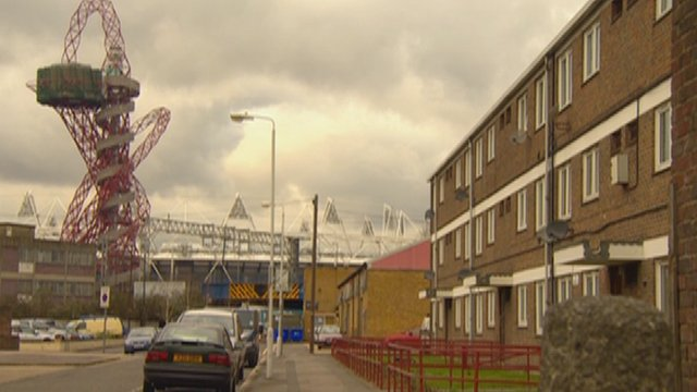 Houses on the Carpenters Estate near the Olympic Park