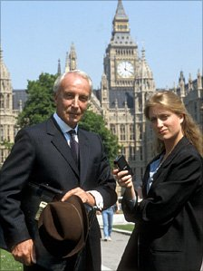 Ian Richardson and Susannah Harker in House of Cards