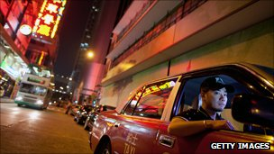 Taxi driver in Hong Kong