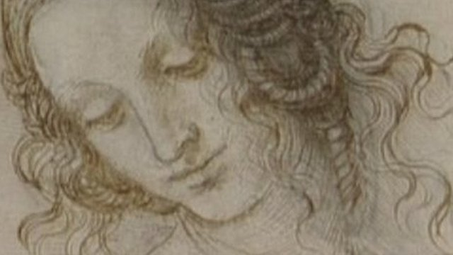 Leonardo da Vinci's study of the head of Leda